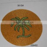 Glass bead place mats with palm tree patterns other colours also available