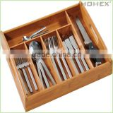 Perfectede Sized Bamboo Drawer Organizer/Homex_BSCI