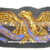 Zari Hand Embroidery Wooven Badges