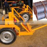 YT-1500 Hydraulic Steel wire rope reel trailer / Stranded Galvanized steel wire drum vehicle