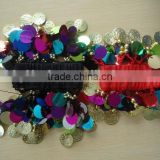 Wholesale four beadeds Sequin belly dance Bracelet ,Belly Dance Accessory