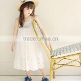 S60033B Girls new dress in the summer lace princess skirts braces skirt