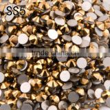 SS5 1.7-1.8mm Aurum color round flat backs non hotfix rhinestone