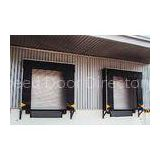 Parcel Polyester Fabric Dock Seals and Shelters , Yellow Stripes for Loading and Unloading Area