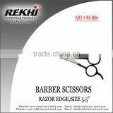 Pakistan Barber Scissors Razor Edge SIZE 5'',beauty instruments,razor scissors,barber razor shears