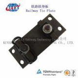 Rail Tie Plate For Railway Track, Crane Rail Rail Tie Plate, low price Plain Oiled  Rail Tie Plate