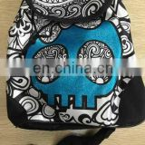 2016!NEW DIY painting satin backpack bag color your own satin glitter bag for kids with markers-skull