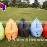 Portable Air Filling Hangout Popular Inflatable Beach Lounges Furniture Bean Shape Air Sleeping Bag