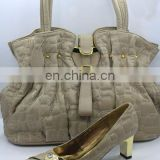 African fashion shoe and handbag set