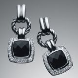 Sterling Silver Jewelry Black Onyx Renaissance Earrings(E-029)