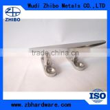 china supplier mirror polished Stainless steel 316 marine fittings cleat with threaded stud