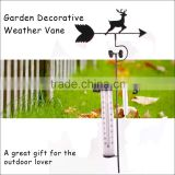 (553) Wind Direction Sensor Iron Wind Vane With Thermometer & Rain Gauge