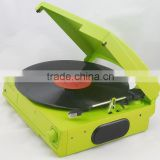 Retro Turntable&Vinyl Record with 3 Speed LP