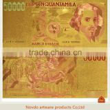 Italy 50000 Iira Gold foil colorful paper money banknote for hot sale ,collection