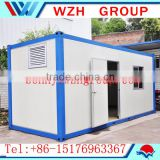 prefab container house and bathroom cabinet basin toilet unit