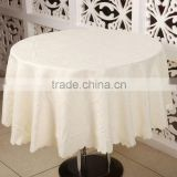 Luxury Banquet Round Jacquard Table Cloth, Embroidery Table Cover