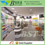 Durable retail medicine display shelf furniture for pharmacy store