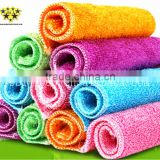 Ecofriendly Colorful Microfiber Bamboo Fiber Wash Cloth Lint Free Good Helper For Home Kitchen Cleaning