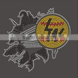 LW Letter Baseball Rhinestone Custom Design Iron on Transfers
