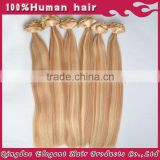Alibaba express in portuguese two tone highlight color malaysian virgin hair extension clip in 7a