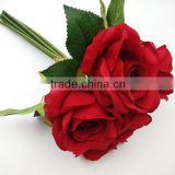 red rose fake flowers wedding bouquet                                                                                                         Supplier's Choice