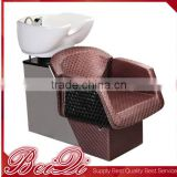 2016 PU leather shampoo chair hair wash chair lay down washing salon shampoo chair for barber shop