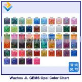 synthetic opal color chart for 55 colors
