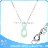 New arrival women 925 sterling silver wholesale infinity opal pendant