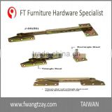 Wholesale Industrial Furniture Adjustable Angle Extension Door Desk Table Bed Sofa Metal Bracket Fitting Hardware