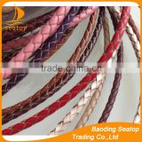 Wholesale jewelry accessories genuine braided leather cord