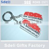 cheap custom soft pvc rubber key tags for promotional