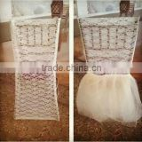 soft folding sequin ruffled chair cover