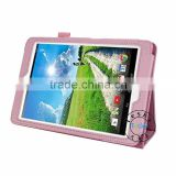 LOVELY BABY PINK FAUX LEATHER PROTECTIVE COVER CASE FOR ACER ICONIA TAB A1-830