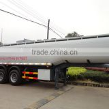 Factory supply 3 axle tanker aluminium alloy fuel tank trailer