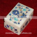 Antique Marble Inlay Jewellery Box