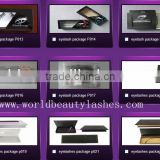 Wholesale private label false eyelash packaging,empty eyelash packaging