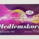 2014 Top Grade Full Color Printable plastic scratch off id card