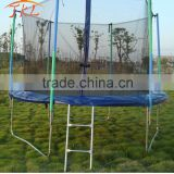 8ft fly bed trampoline with safety enclosure