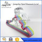 Fashion Custom Hot Selling Pvc Coating colorful metal hanger                                                                         Quality Choice