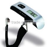 digital luggage scale,salter style luggage, ABS siver+ black, poly strap, 50kg/10g, 110lb/0.02lg