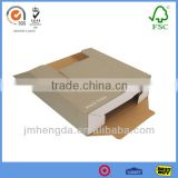 Display foldable grey corrugated fiberboard box for packaging
