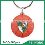 Wholesale bulk metal two sided usa sports printed basketball key ring