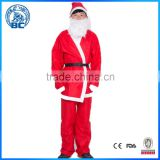 Wholesale High Quality Red Fancy Mascot Cute Christmas Santa Claus Costume