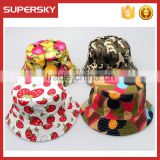 A-1569 Spring Fall Baby Print Camouflage Bucket Cap Children Sun camouflage Bucket Hat Kids Camouflage Pattern Bucket Hat