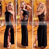 Temptlife Brand In stock items women sexy underwear supply strapless bodystocking ecomerce Emperial Black Lace Bustier bodystock