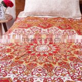 Handloomed 520 Cotton Single online Bedspread, Handmade Bedsheet By Artisians Of Rural India, Bohemian Bedding, Room Decor
