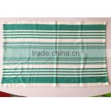 Importers whole sale 100 cotton Dish Towel Custom printed Tea Towels Green and White stripe Tea Towel