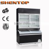 Shentop 2014 Commercial Supermarket Upright Combined island Freezer Showcase Freezer STSWG-B