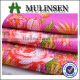 Shaoxing Mulinsen print polyester rice design jacquard seersucker fabric with spandex