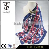 high cost performance 100% silk digital printed multi colors breathable fashion chinese silk scarf